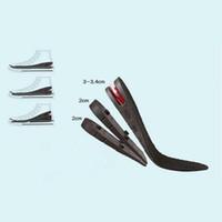Hombres y mujeres Aumento de altura de 3 capas Zapato Plantilla Cojín de aire Inserto de talón Aumento de altura Altura Levante 7 cm Almohadillas de elevación invisibles Talón Leopard