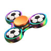 Rainbow Metal Fidget Spinner Toys Football Basketball Hand S...