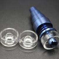 OD 22 mm 25 mm cuarzo real del plato para el titanio híbrido reemplazo de titanio de uñas de cuarzo Cuenco Carb Cap Fit Dab aparejo de cristal Bongs