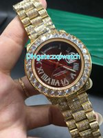 NEW Luxury 41mm Big diamond Mechanical man watch (red, green...