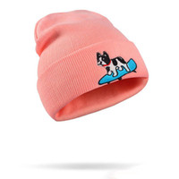Wholesale Fashion Women Men Sport Cap Embroidery Cute Dog Be...
