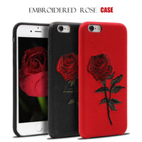 2017 newest embroidered rose case for iphone 6 6S iphone 6 P...