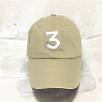 Khaki Hip Hop Chance The Rapper Chance 3 Cap Hat Letter Embr...