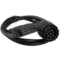 Per cavo BMW ICOM D ICOM-D Motociclette Motobikes Adattatore da 10 pin da 10 pin a 16 pin OBD2 Cavo diagnostico OBDII Cavi strumento I-COM