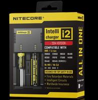 2016 Nova Nitecore I2 Carregador Universal para 16340 18650 14500 26650 Bateria E Cigarro 2 em 1 Função Muliti Intellicharger Recarregável