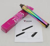 Vision 2 Spinner II 1650mAh Vape Pen 510 Gewinde Batterie Variable Spannung einstellbar Evod Twist II Ego-c Batterien Kit US STOCK Regenbogenfarbe