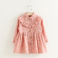 Everweekend Girls Ruffles Floral Dress Autumn Fall Long Slee...