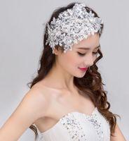 Handgemaakte kant bruiloft tiara rhinestone parel bruids haaraccessoires kristal bruiloft hoofdband haar sieraden 2017 nieuwste