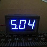 """Бесплатная доставка 0.56 """" DC 4.5-30V цифровой вольтметр автомобилей автомобильный двигатель напряжение панели метр светодиодный дисплей цвет: синий 100 шт. / лот"""