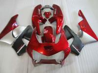혼다 CBR919RR 용 새로운 핫 바디 부품 페어링 키트 98 99 와인 레드 실버 페어링 세트 CBR 900RR 1998 1999 OT24