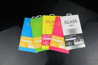 Fashion Retail Box Package Paper+Plastic Box Packing For Premium Tempered Glass Film For iPhone 5 6 6S 7 Plus Samsung Galaxy S6 S5 Note 5 4