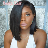 Virgin Brazilian Hair Lace Front Wig Bob Glueless Human Hair...