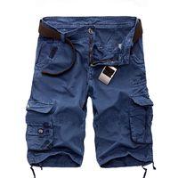 Toptan-Artı 29-40 Kargo Şort Erkekler Kamuflaj Yaz Sıcak Satış Pamuk Rahat Erkekler Kısa Pantolon Camo Giyim Moda Erkekler Kargo Şort