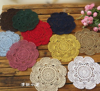 20cm Handmade Crochet Coasters Lace Cotton Round Table Mat Z...
