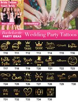 Bachelorette and Bride Tribe Temporary Tattoos - Metallic Shi...