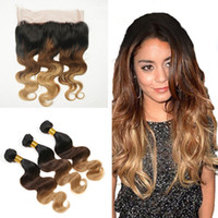 Hotselling Three Tone 1B 4 27 Honey Blonde Ombre Brazilian B...