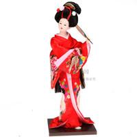 Bambola giapponese geisha ornamenti prodotto kimono bambola di seta arredamento per la casa arredamento in stile decorazione