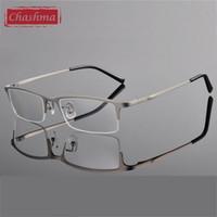 Atacado-Chashma Titanium óculos Ultra Light Weight armações de óculos frame ótico para Half Men Rim Óculos