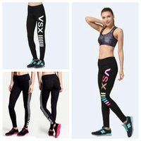Pink Letter Leggings Yoga Fitness Pants Women Sports Running...