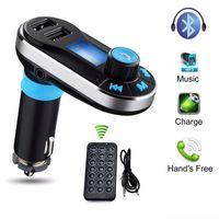 Автомобильный FM-передатчик BT66 Bluetooth Hands-Free LCD MP3-плеер Радиоадаптер Kit Зарядное устройство Смарт-мобильный телефон с розничной упаковке