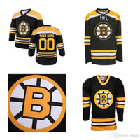 2016 Novo Barato Hóquei No Gelo Boston Bruins Em Branco Jerseys Personalizado Qualquer Nome Qualquer NÃO. Borda preta do remendo dos finais da copa de Stanley da casa do preto 2013 costurada