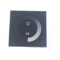 Contrôleur LED noir pour 12V 24V LED Lumière de bande flexible 5050 3528 5630 2835 Couleur unique corde Bobine écran tactile Luminosité Dimmer CE ROSH