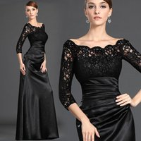 Modest Bateau Neck Lace 3 4 Long Sleeve Mother Of The Bride ...