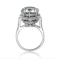 Hoge kwaliteit nieuw ontwerp 5 Karat luxe ontwerp vintage antieke sona nscd verlovingsring fabelachtige ring met synthetische diamod