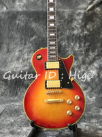 hot selling Cherry burst color electric guitar with gold col...