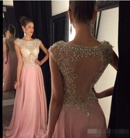 Chiffon Sexy Sparkly Prom Party Dress Long Beaded Crystal Bo...