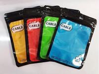 10.5x15 CM Zipper Retail Boxes Pacote Saco OPP saco de plástico poli pendurar buraco para iPhone Samsung Xiaomi cabo USB