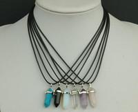 10pcs / lot Mehrfarbendiamant Lampwork Glashängende Halsketten für DIY Fertigkeit-Art und Weiseschmucksachen Gfit geben Verschiffen PG12 frei
