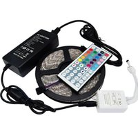 Led Strip Light RGB 5M 5050 SMD 300Led Waterproof IP65 + 44Key Controller + 5A Power Supply With Retail Package Christmas Gifts
