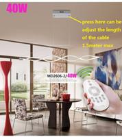 Navire gratuit L100CM 120cm New Creative moderne LED lampes suspendues Vague lampe suspendue lampe de salle à manger salon suspension 110V 220V