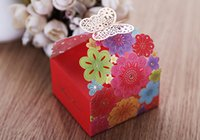 100pcs Laser Cut Candy Box Colorful Flower Gift Boxes New We...