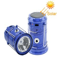 IN stock solar lamp New Style Portable Outdoor LED Camping L...