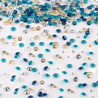 1000 stücke 4,5mm Diamant Confetti für Hochzeit Dekoration Tisch Streudekor Klare Kristalle Acryl Herzstück Party Supplies