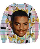 Women men 3D Carlton Sweatshirt Fresh Prince of Bel- Air Crew...