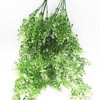 الشركات المصنعة لتوريد محاكاة الخضراء المزروعة الجدار الديكور نبات الروطان اللبلاب لبلاب 20pcs / lot