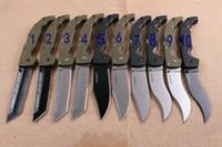 alça verde COLD COLD grande faca dobrável HNA casa preta borda reta cabeça quadrada acampamento de caça faca dobrável frete grátis faca 1pcs