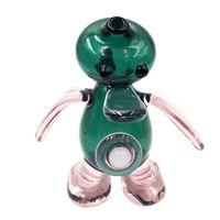 Pirex Smoking Mano Pipe Adorabile Adorabile Tubi animali di alta gamma Green Color per il fumo del tabacco