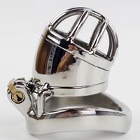 Anéis pequenos do metal masculino pequeno da gaiola da torneira do dispositivo de castidade, correia de aço da sujeição da castidade dos homens da gaiola da castidade CP271-1