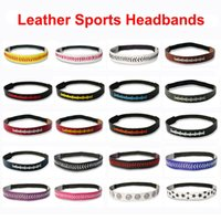20 Colors Leather Outdoor Sports Headband Ski Tennis Headwar...