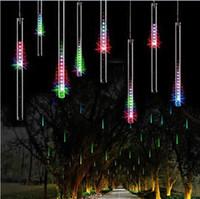 50 CM 240LED Meteorschauer Regen Rohr LED Weihnachten Licht Hochzeit Garten Weihnachten String Licht Outdoor-urlaub Beleuchtung