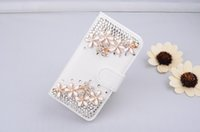 Glitter Rhinestone case For Iphone 5G 5S 6G 6S 6Plus Samsung S3 S4 S5 Filp Wallet Leather Cover Diamond Stand Phone Cases