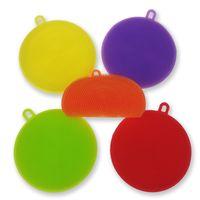 Cepillos de limpieza Creativos resistentes al calor para herramientas de limpieza de cocina Colorido Circular Silicona Frutas Verduras Cepillo 3 3ad C