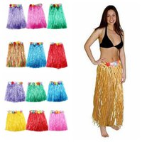 4 SizeTassel Child Girl Princess Flower Hula Grass Skirt Fan...