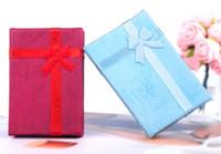 Sortierte Farben Schmuck Sets Display Box Halskette Ohrringe Ring Box 5 * 8 Verpackung Geschenkbox Freies Verschiffen G191
