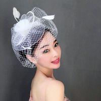 Vintage Hochzeit Hüte schwarz und weiß Hochzeit Fascinators Und Hüte Braut Hüte 2018
