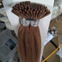 BRITISCHE modische Farben Naturel 100% menschlicher Keratine Nagel / Stock u ich kippe Prebond Haar-Erweiterung, 0.5g / s 200s / Lot, freies DHL